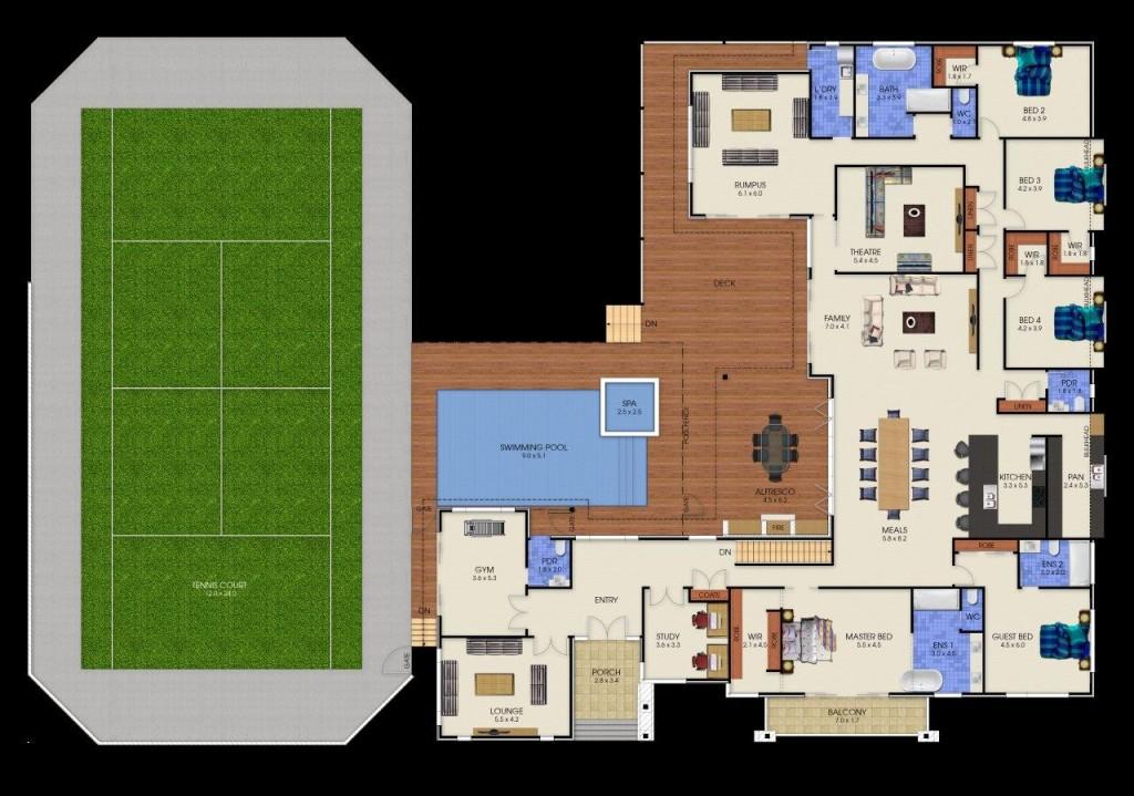 2 Storey Plenty - Upper Floor Plan
