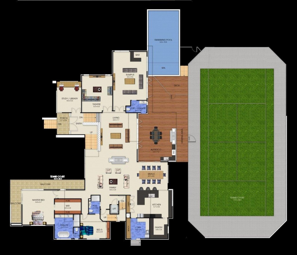 3 Storey Plenty - First Floor Plan
