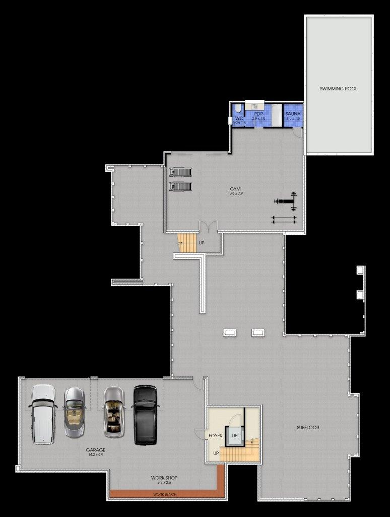 3 Storey Plenty - Ground Floor Plan