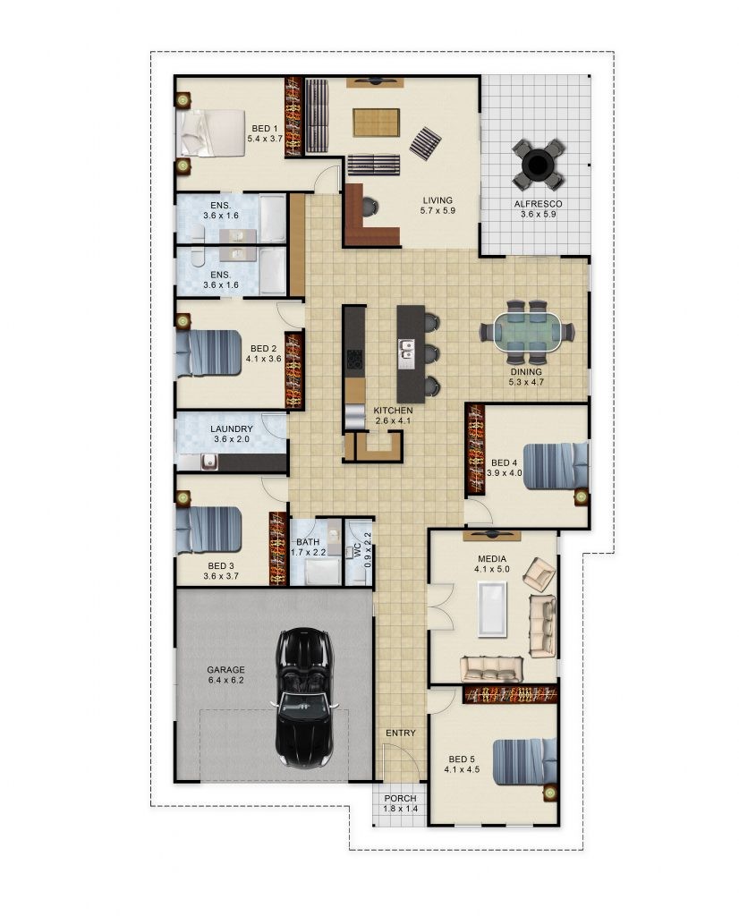 Opthalmia Crescent - Floor Plan